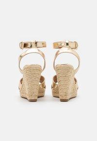 ONLY SHOES - ONLAMELIA LIFE STITCH  - Platform sandals - gold - 2
