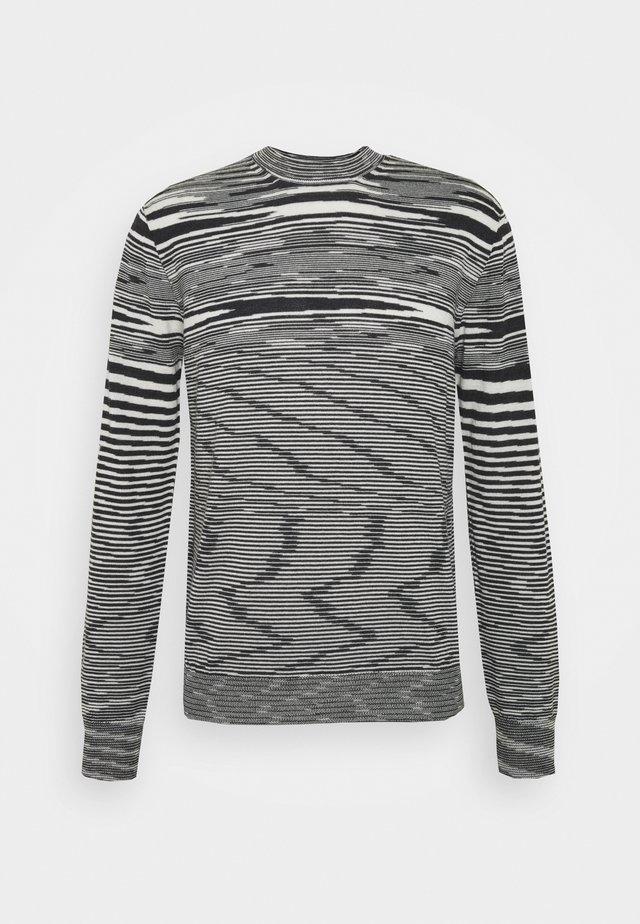 SLEEVELESS CREWNECK - Jersey de punto - black/white