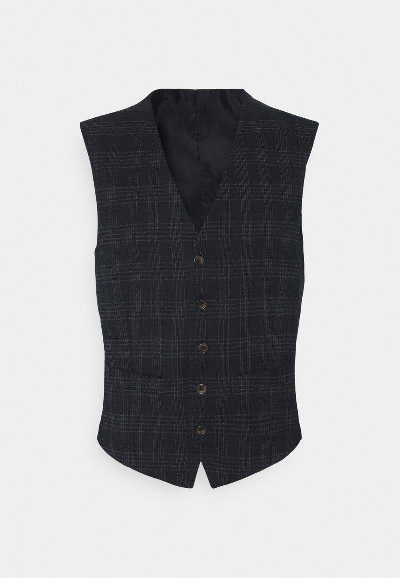 Ben Sherman Tailoring - TEXTURED CHECK VEST - Bodywarmer - navy