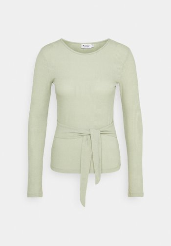 BELTED - Long sleeved top - khaki