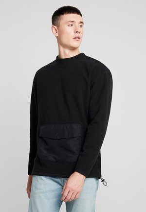 POLAR POCKET CREW - Sweat polaire - black