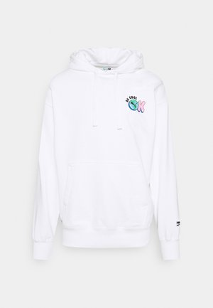 DOWNTOWN GRAPHIC HOODIE - Hoodie - white