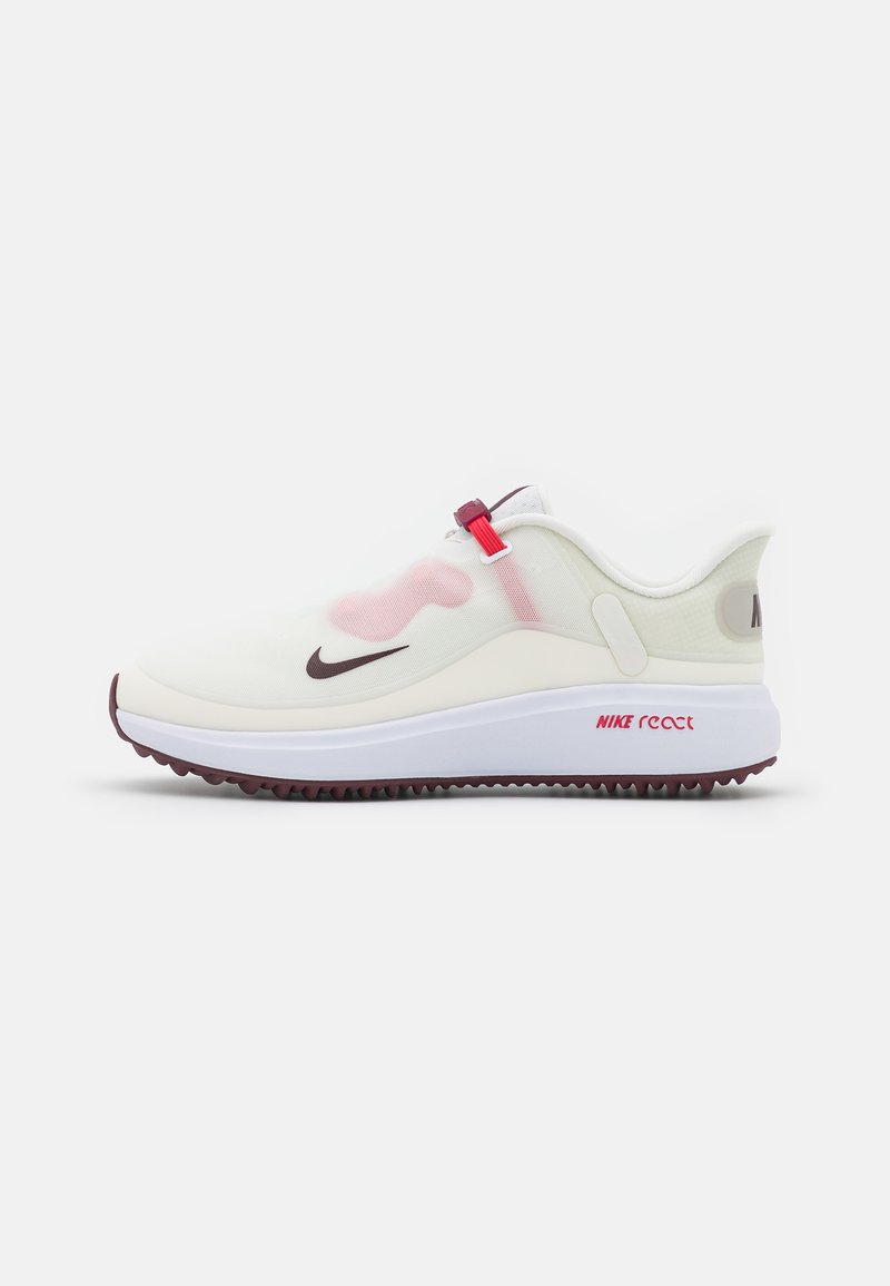Nike Golf - REACT ACE TOUR - Golf shoes - sail/dark beetroot/fusion red/white