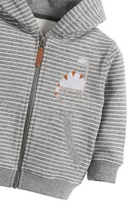 Next - DINO APPLIQU - Zip-up hoodie - grey - 2