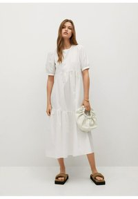 Mango - MED VOLANG - Day dress - offwhite - 0