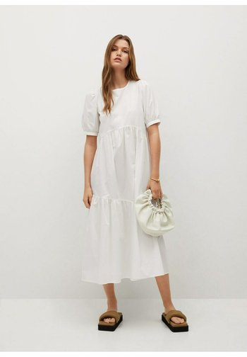 MED VOLANG - Day dress - offwhite