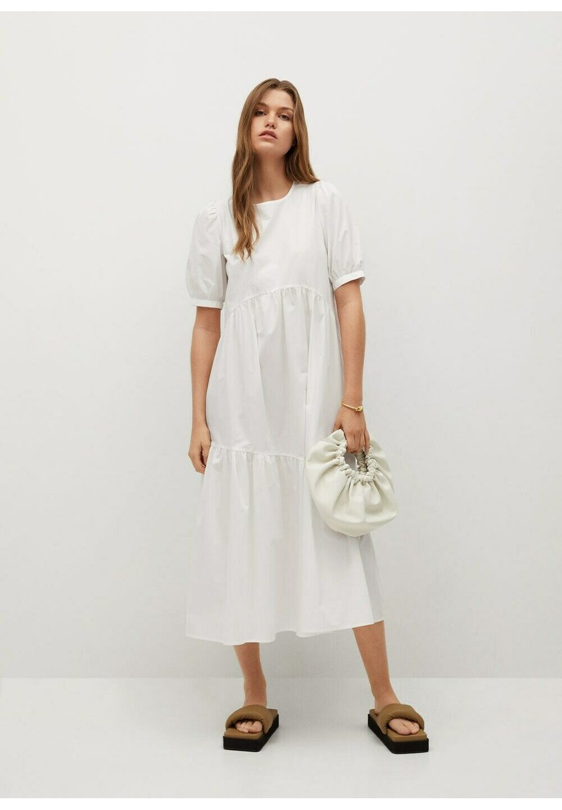 Mango - MED VOLANG - Day dress - offwhite