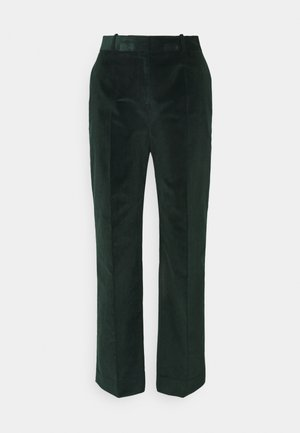 CROPPED DRAINPIPE TROUSER - Trousers - deep teal green
