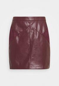 NAF NAF - ESUEDA - Pencil skirt - bourgogne - 0