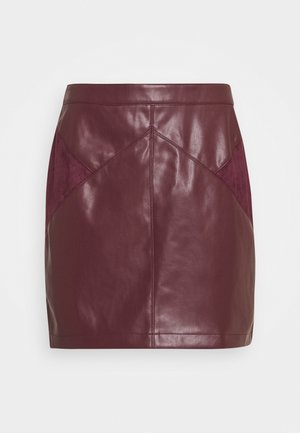 ESUEDA - Pencil skirt - bourgogne