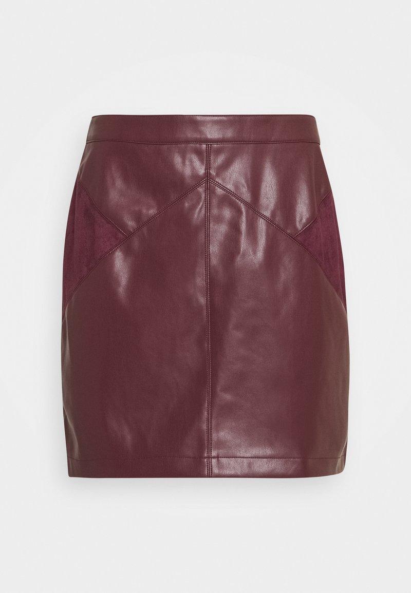 NAF NAF - ESUEDA - Pencil skirt - bourgogne