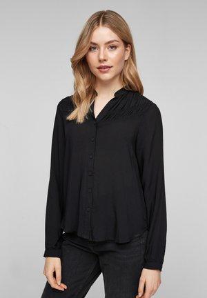 MET RIMPELING - Button-down blouse - black
