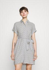 Vero Moda - VMSIMPLY EASY SHIRT DRESS - Shirt dress - navy blazer - 0