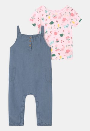 CHAMBRAY SET - T-shirt print - blue