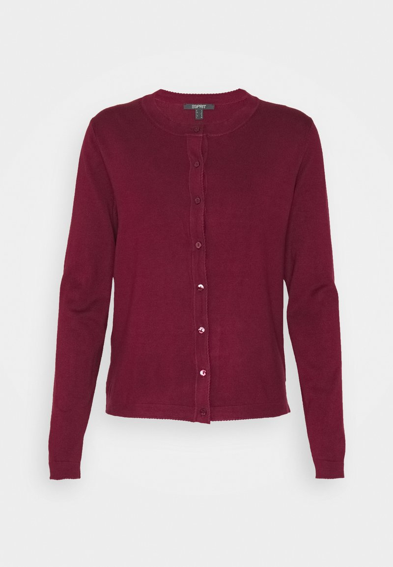 Esprit Collection - CARDI - Cardigan - bordeaux red