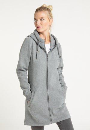 veste en sweat zippée - grau melange