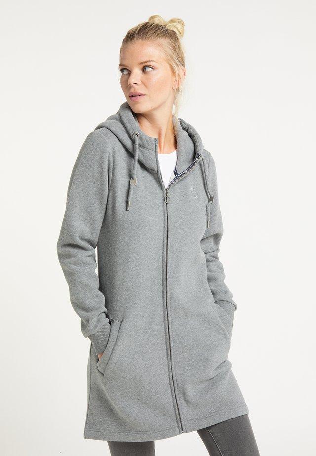 Zip-up hoodie - grau melange