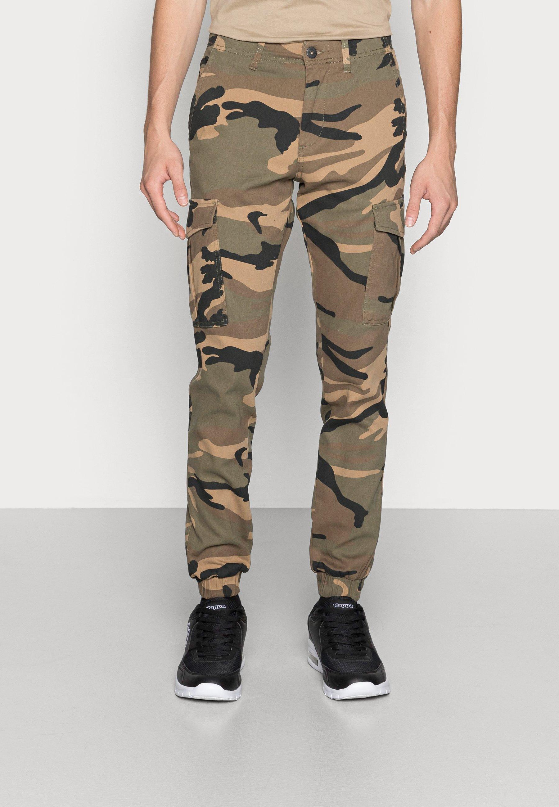 Men JJIMARCO JJJOE CUFFED CAMO - Cargo trousers