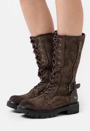 Platform boots - dunkelbraun