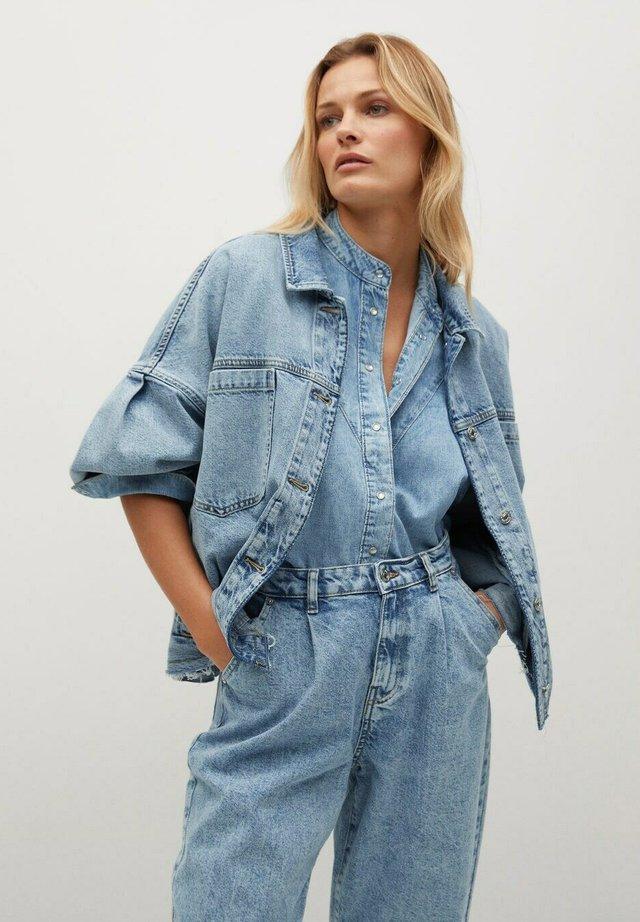 Kurtka jeansowa - bleu moyen