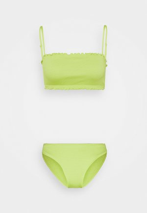 SHIRRED SET - Bikiny - green smock