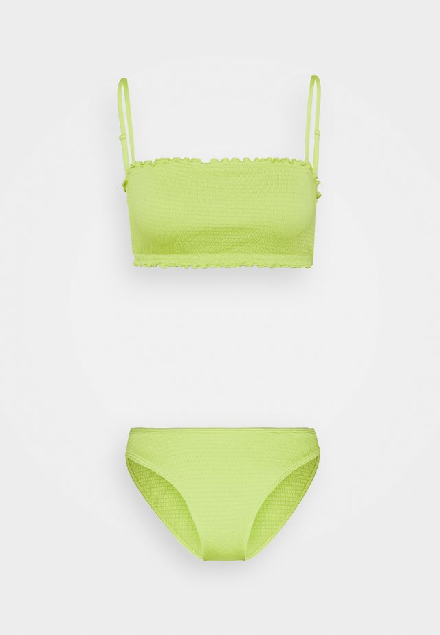 SHIRRED SET - Bikini - green smock