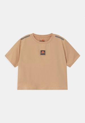 ASALI CROPPED UNISEX - Print T-shirt - light brown