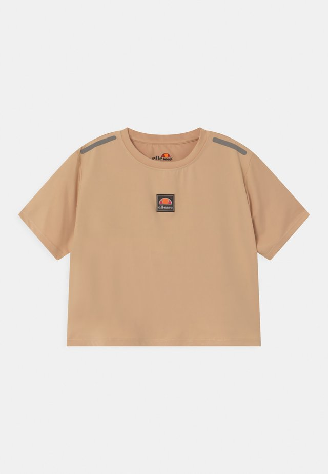 ASALI CROPPED UNISEX - T-shirt imprimé - light brown