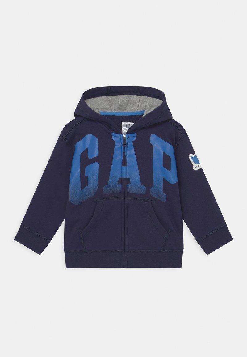 GAP - ARCH HOOD - Sweater met rits - navy uniform