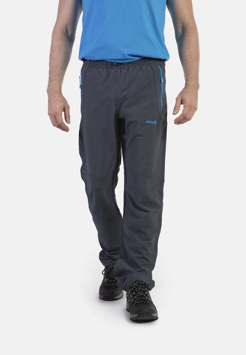 IZAS - CLOISTER - Pantalons outdoor - dark grey/blue river