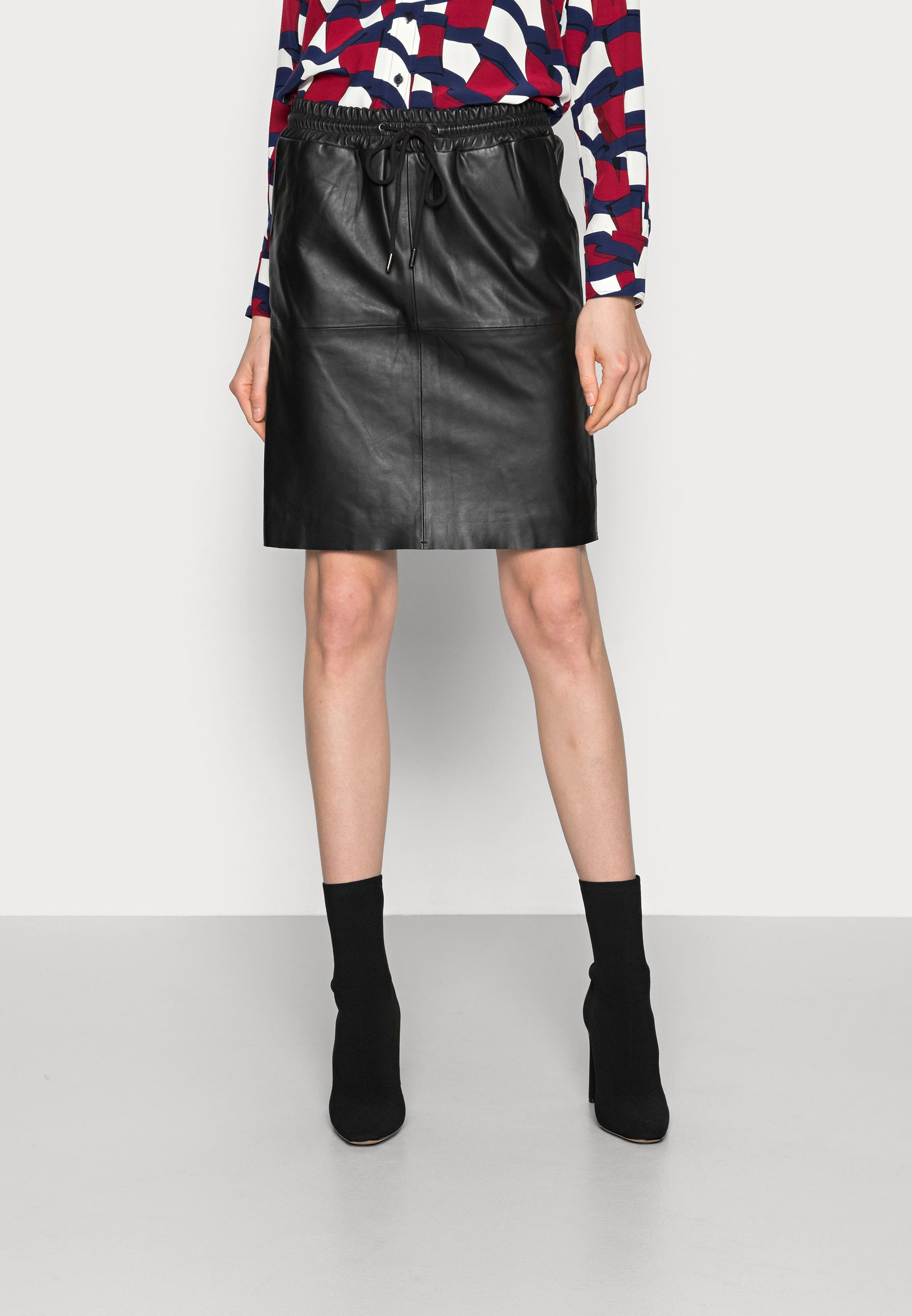 Women SIRISA LEATHER SKIRT - Mini skirt