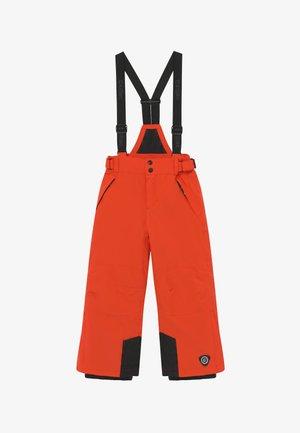 GAUROR - Zimní kalhoty - dunkelorange/schwarz