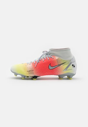 MERCURIAL 8 ACADEMY MDS FG/MG - Moulded stud football boots - white/bright mango