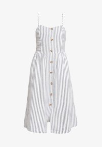 ONLY - ONLLUNA STRAP STRIPE DRESS - Skjortekjole - white - 4