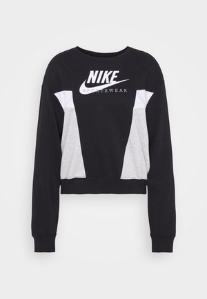 HERITAGE CREW  - Sweatshirt - black/grey heather/white