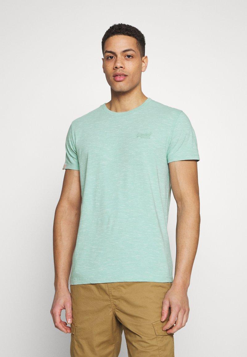 Superdry - VINTAGE CREW - Basic T-shirt - fresh mint space dye