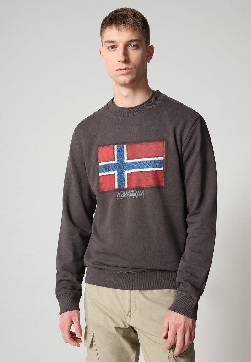 Napapijri - BIROL CREW - Sweatshirt - dark grey solid
