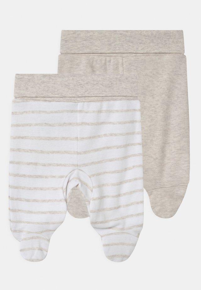 2 PACK UNISEX - Pantalon classique - white/beige
