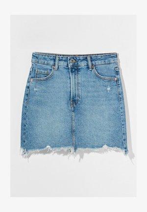 HIGH WAIST - Denim skirt - blue denim