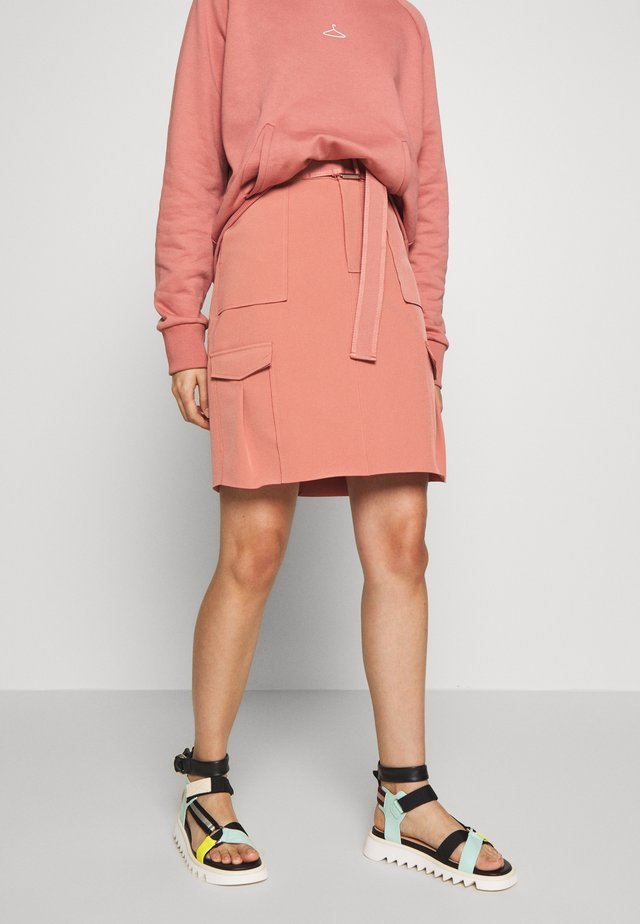 STRANDA - Pencil skirt - dust pink