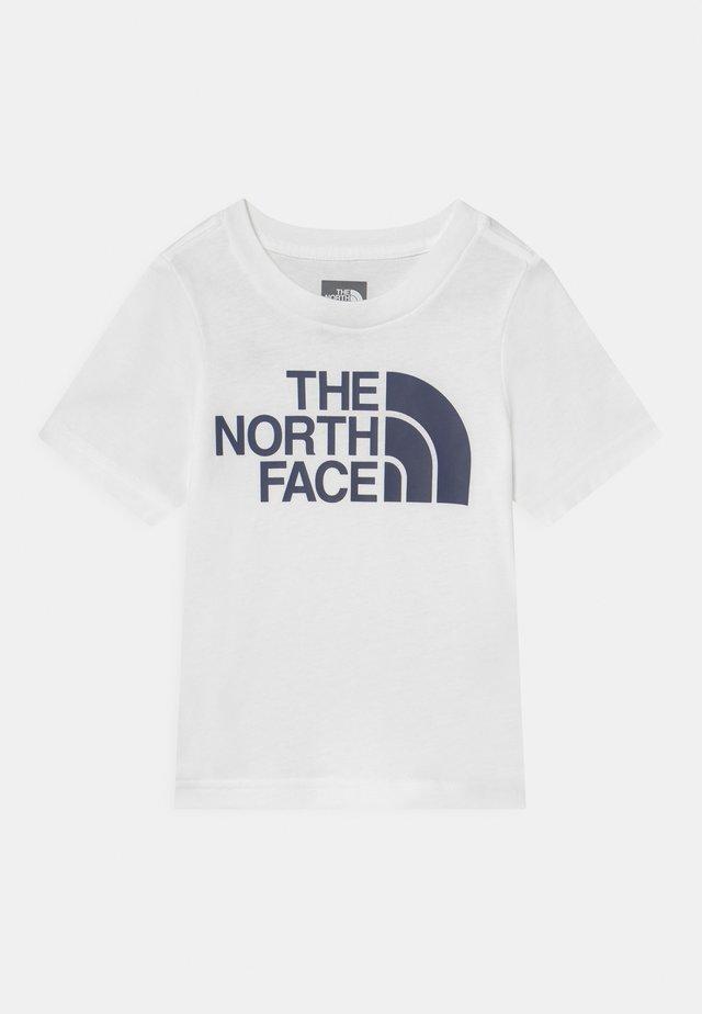 TODD EASY UNISEX - Print T-shirt - white/navy