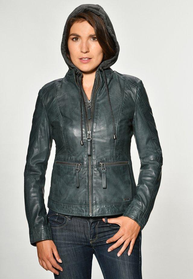 BRAYFORD - Leather jacket - blue