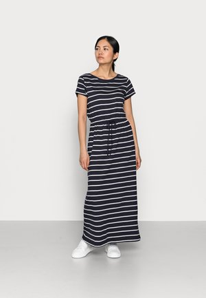 ONLMAY LIFE STRING MAXI DRESS  - Maxi dress - night sky/primo stripe cloud dancer