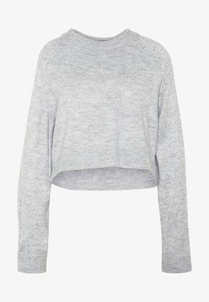 CROP JUMPER - Pullover - grey marl