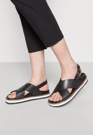 ANDREA - Sandalen met plateauzool - black