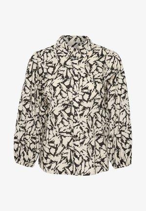 ELEINAS - Button-down blouse - black scratch print