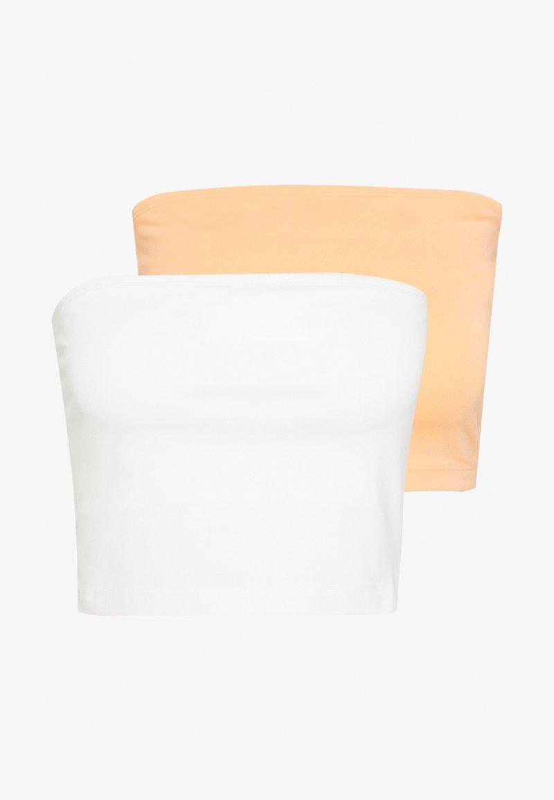 Even&Odd - 2 PACK - Top - white/orange