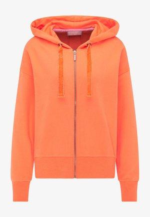 Zip-up hoodie - mandarin orange
