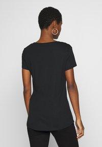 Esprit - 2 PACK - Basic T-shirt - black - 2