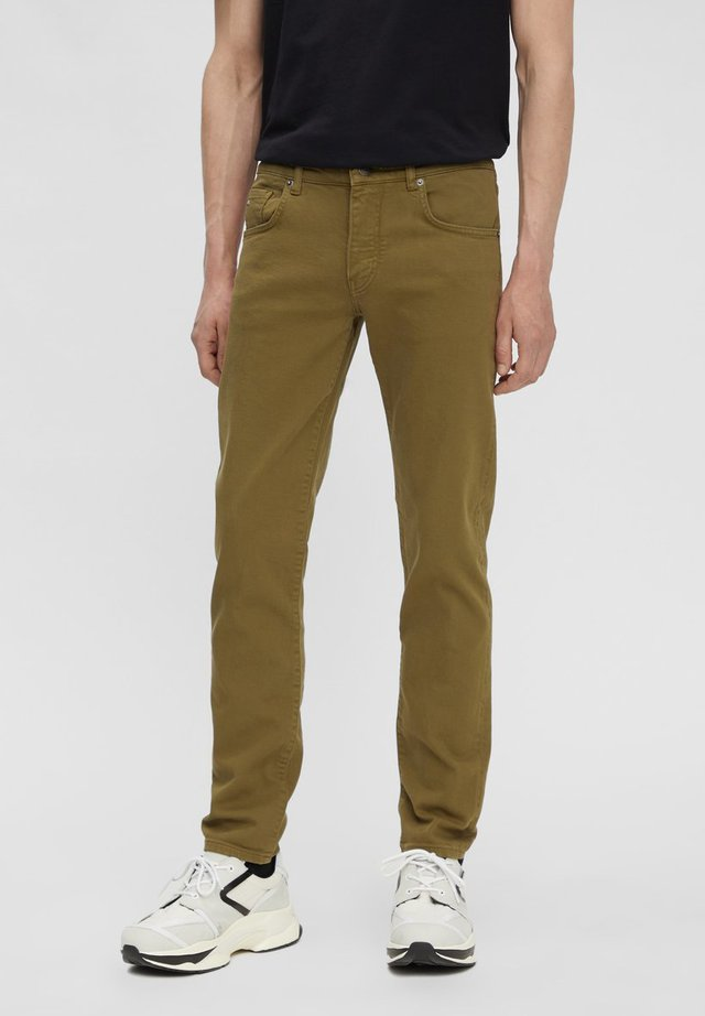 JAY SOLID STRETCH - Jean slim - moss green